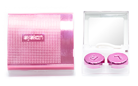 Travel kit (pink metallic)